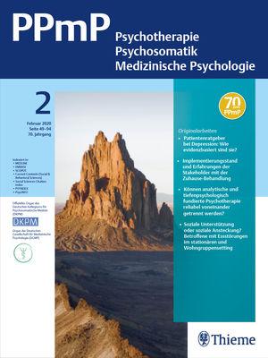 PPmP - Psychotherapie · Psychosomatik · Medizinische Psychologie