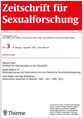 Zeitschrift sexualforschung online