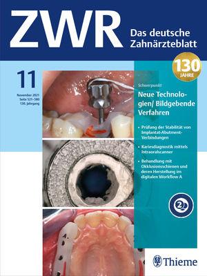 Cover ZWR - Das Deutsche Zahnärzteblatt