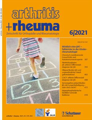 Cover arthritis + rheuma