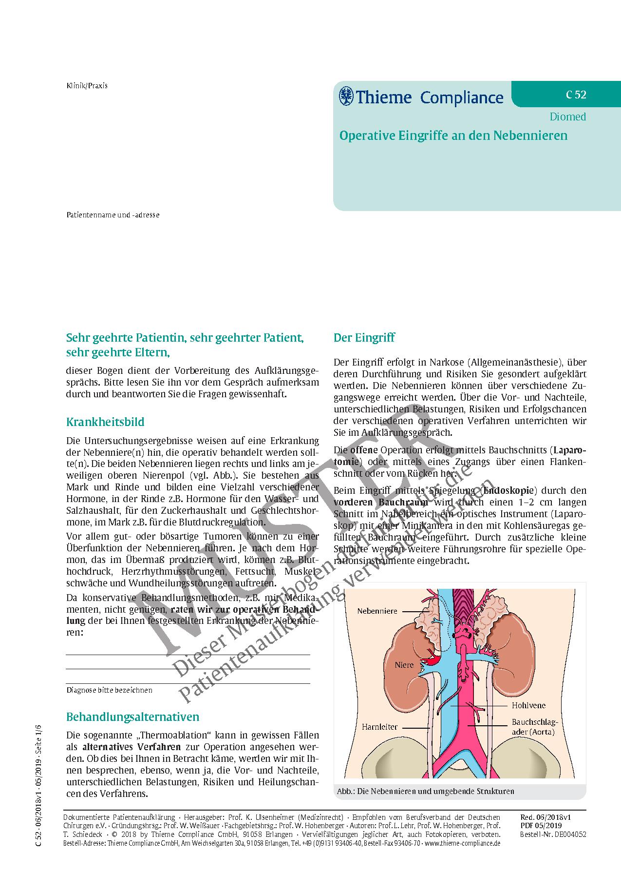 Ausgezeichnet Nebennieren Hormone Ideen - Physiologie Von ...