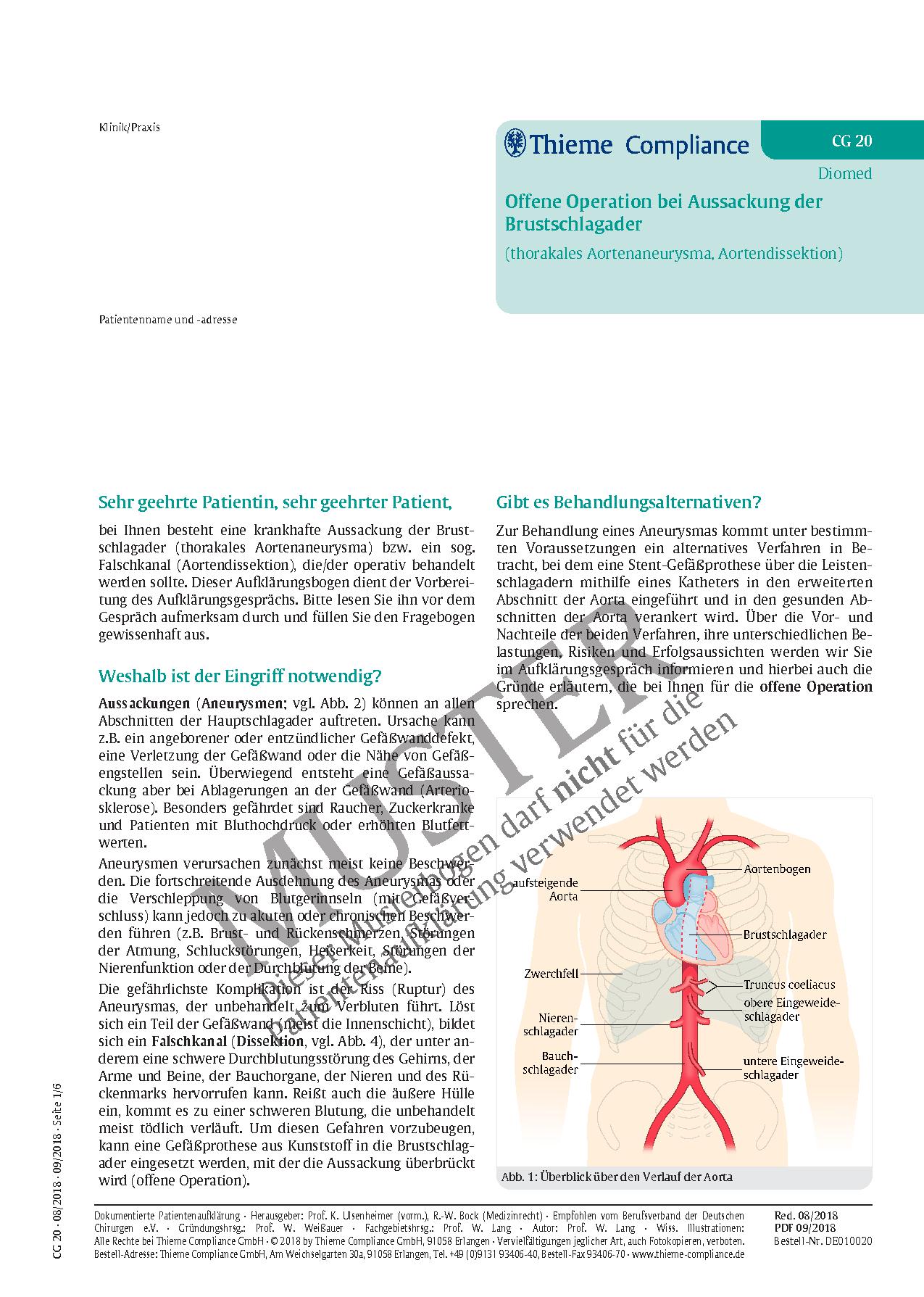 Fantastisch Absteigende Aorta Anatomie Galerie - Anatomie Ideen ...