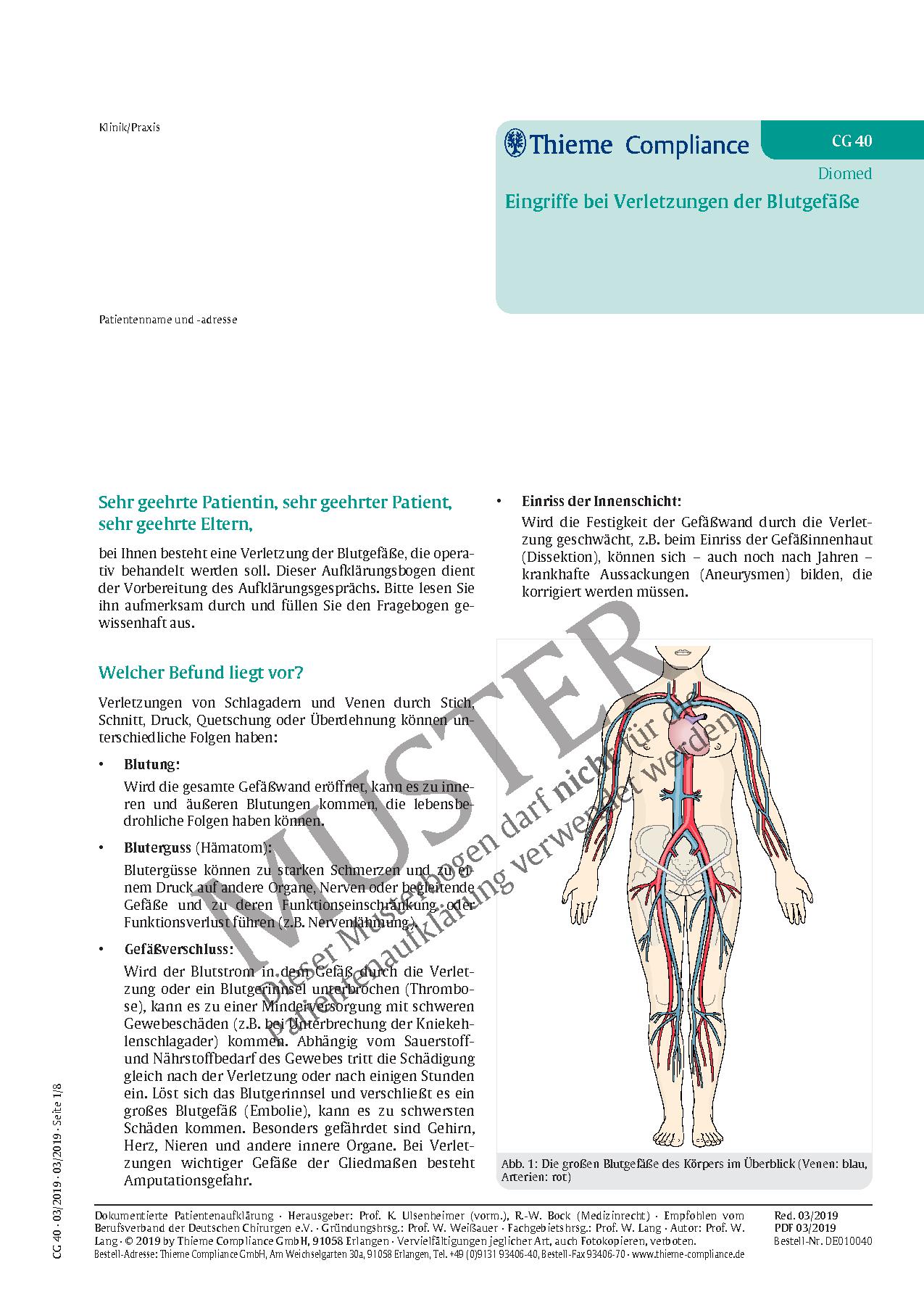 Beste Anatomie Der Venen Und Arterien Ideen - Physiologie Von ...