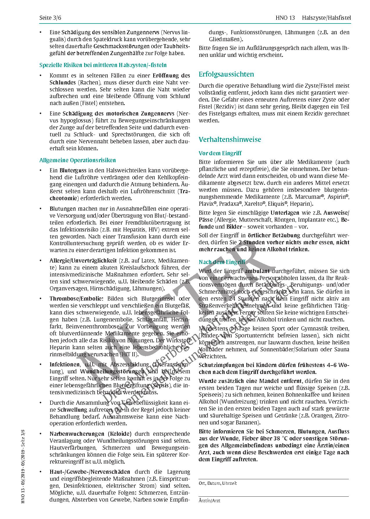 Fantastisch Halsfistel Anatomie Bilder - Anatomie Von Menschlichen ...