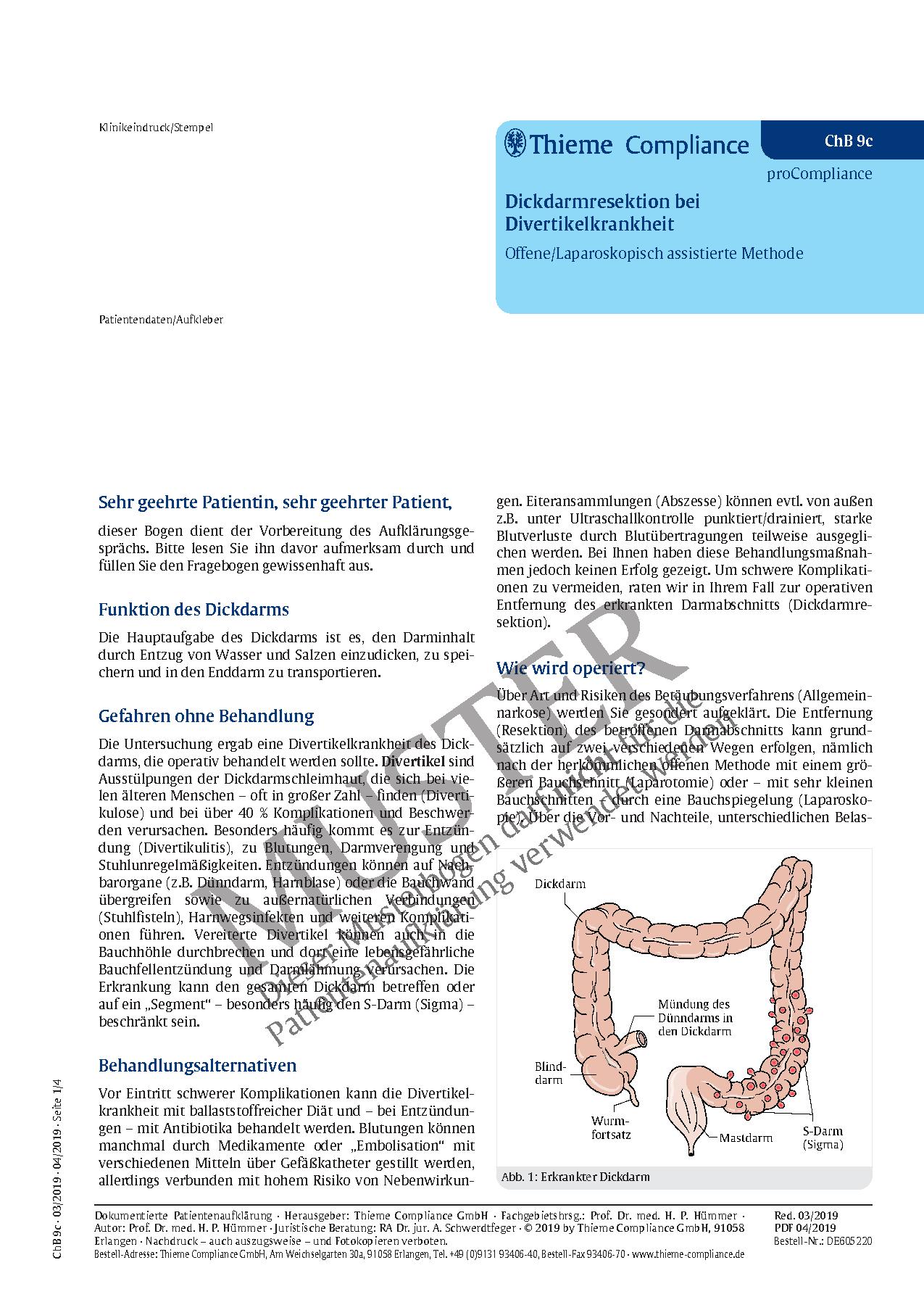 Großzügig Dickdarm Funktion Galerie - Physiologie Von Menschlichen ...