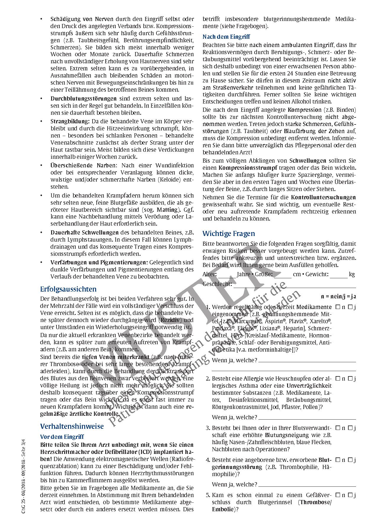 Ungewöhnlich Krampfadern Anatomie Fotos - Anatomie Von Menschlichen ...